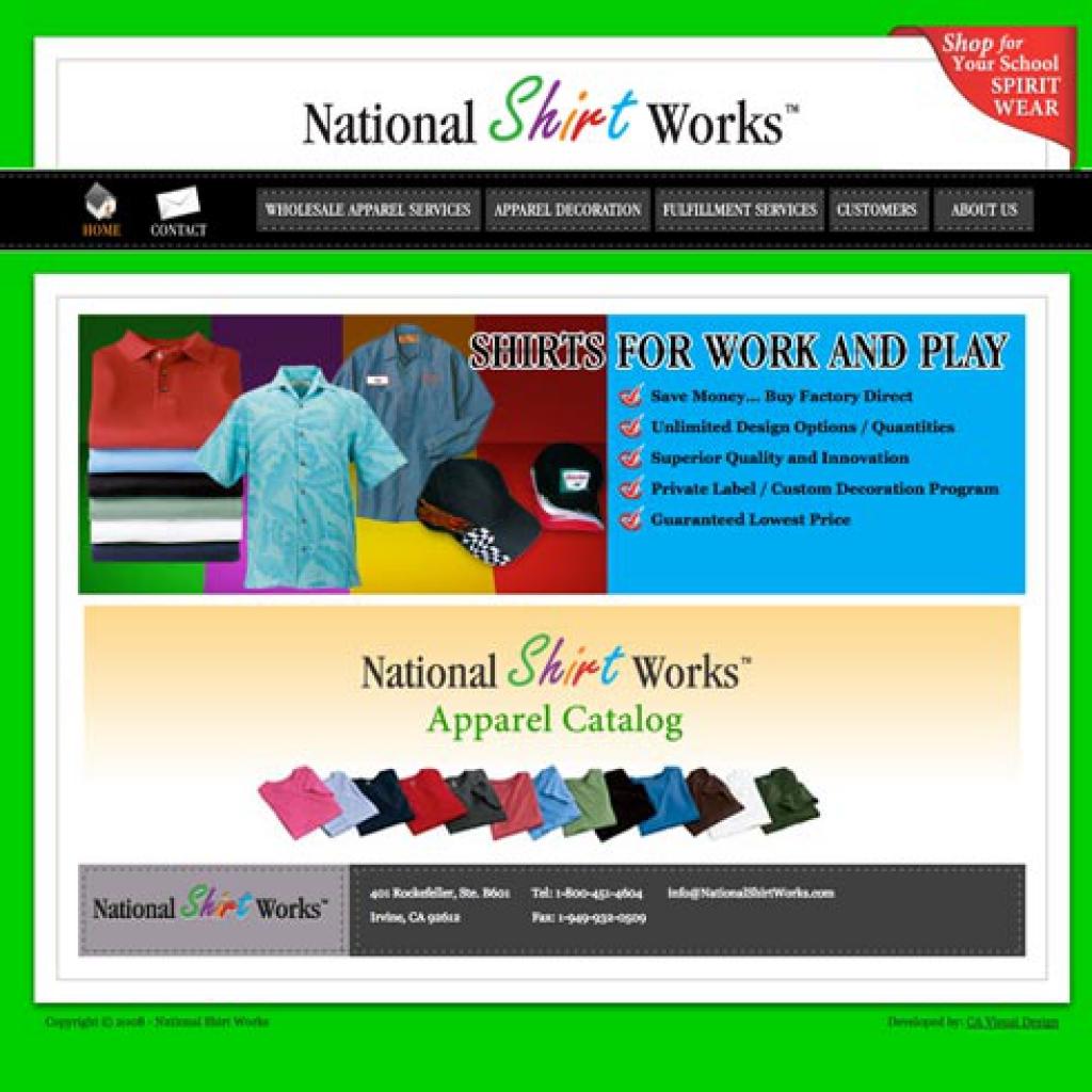 national shirts works website