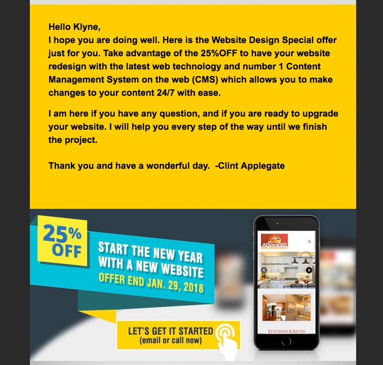 CAVD Email Campaign Design